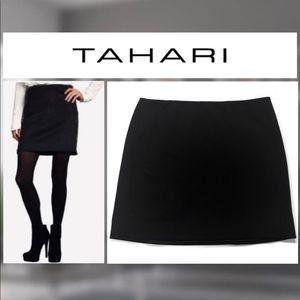 ⭐️Tahari Elena Black Mini Skirt
